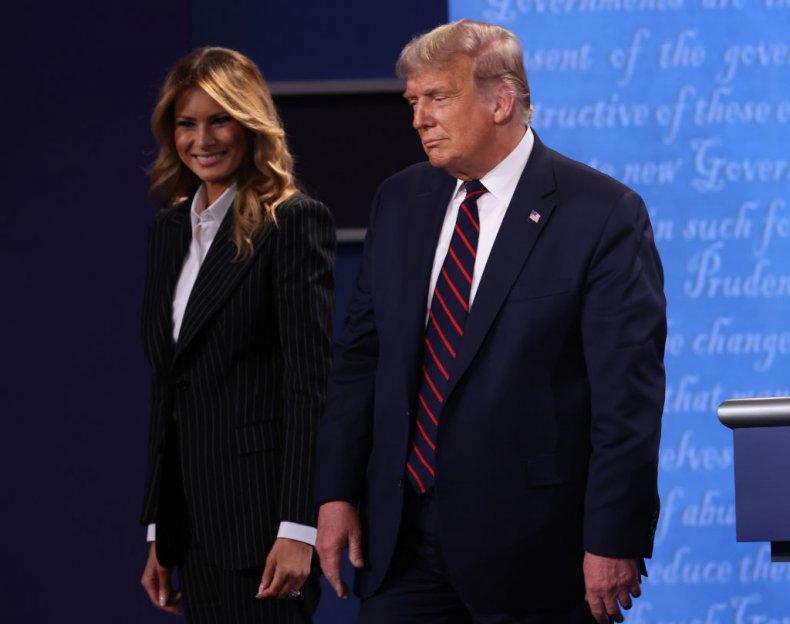 Donald and Melania Trump at the Debate