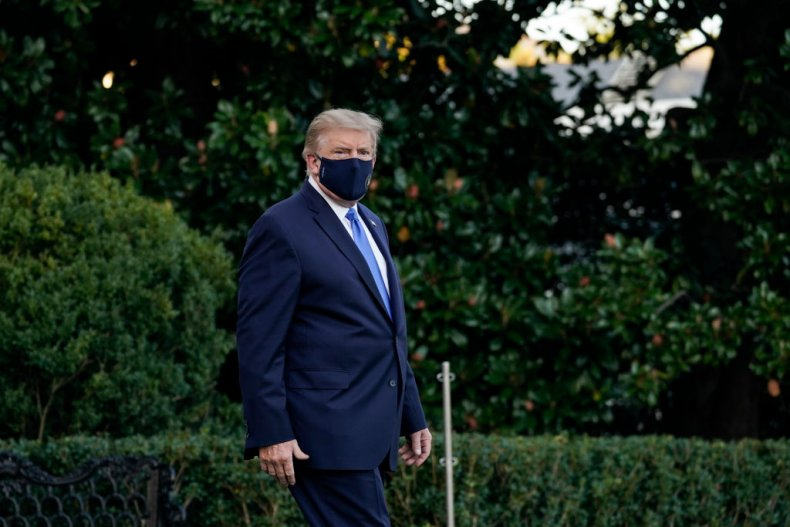 President Donald Trump Leaves for Walter Reed