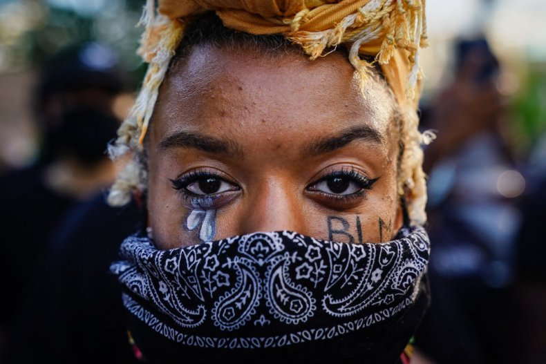 BLM protester