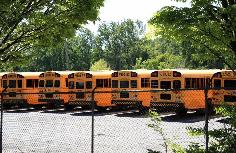 North Carolina school buses April 2020