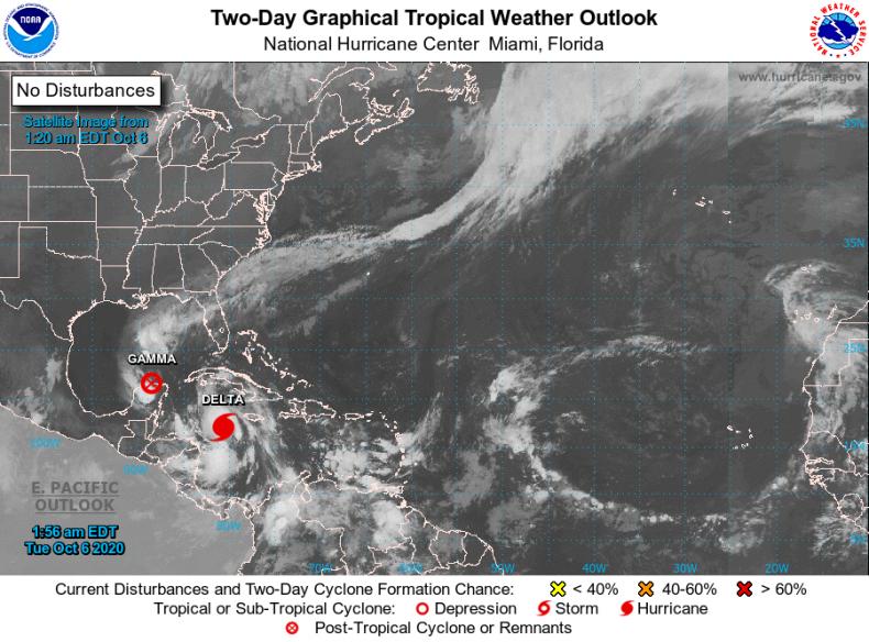 NOAA National Hurricane Center Delta