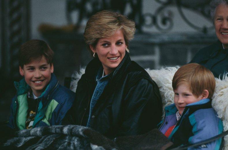 Princess Diana with Prince Harry, Prince William