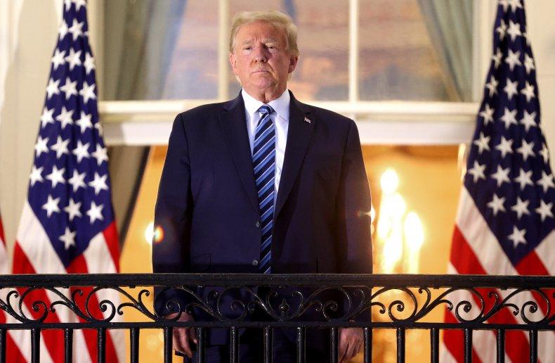 President Trump White House balcony October 2020