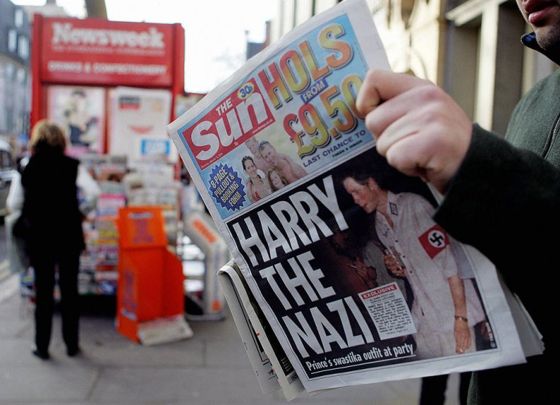 The Sun's Harry the Nazi Front Page