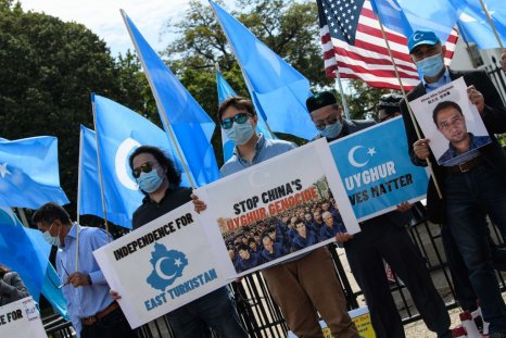 Uyghur protest at White House