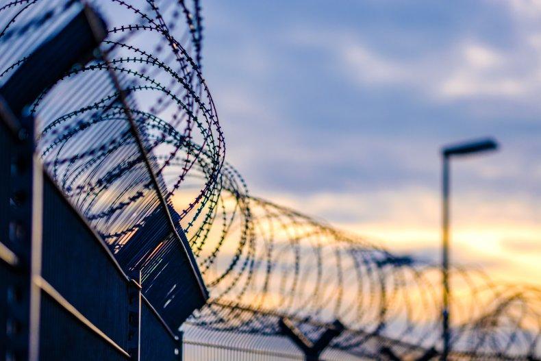 barbed wire prison