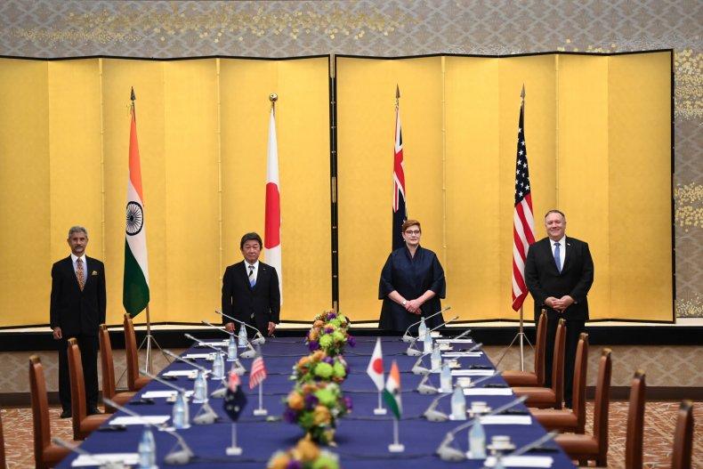india, japan, australia, us, pompeo, quad