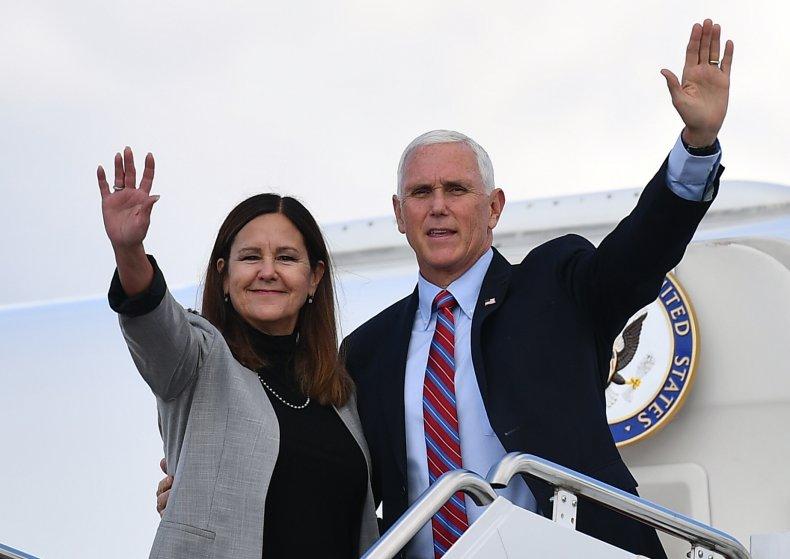 Karen and Mike Pence Oct 5