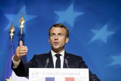 French President Emmanuel Macron in Brussels