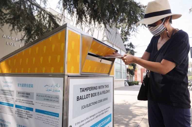 Los Angeles ballot drop box