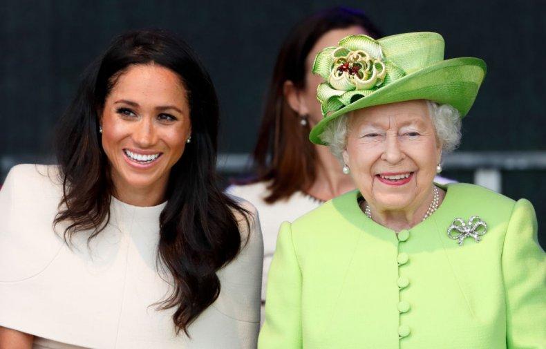 Meghan Markle, Queen Elizabeth II, Bridge Opening