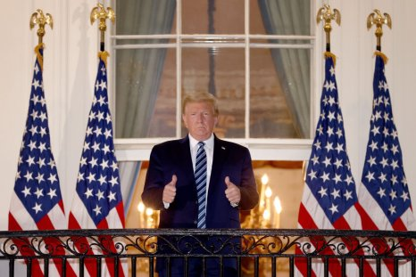 President Donald Trump Gives a Thumbs Up