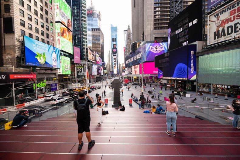 Times Square New York City September 2020