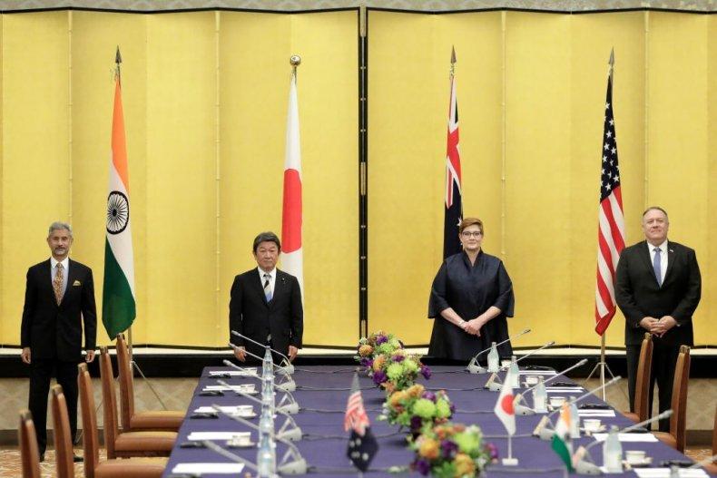 Mike Pompeo Quad Japan Australia India