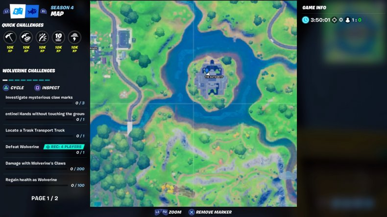 fortnite cobweb location 1 map