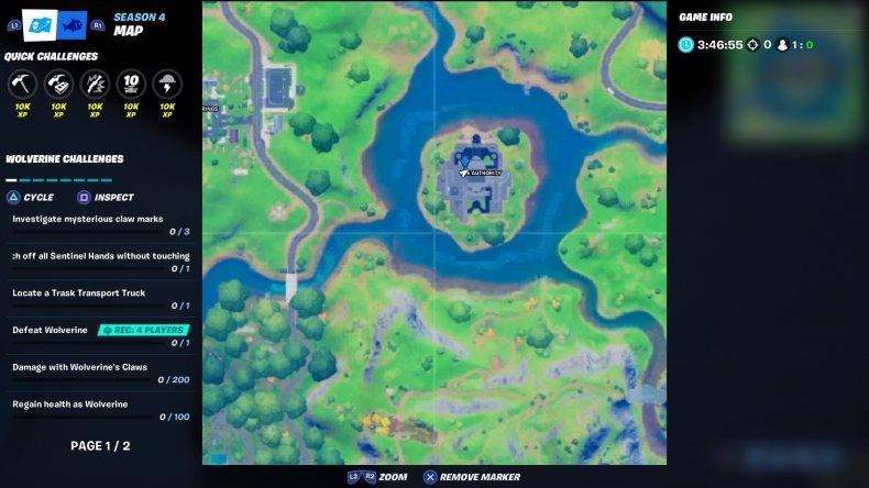 fortnite cobweb location 2 map
