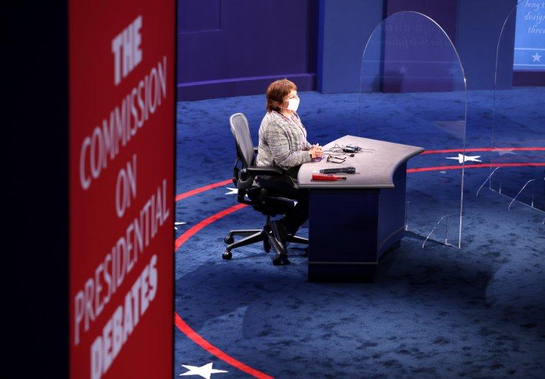 Vice presidential debate, plexiglass barrier