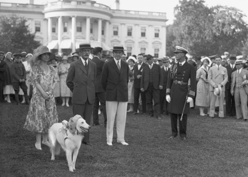 1926: President and Mrs. Coolidge with Andrew Mellon