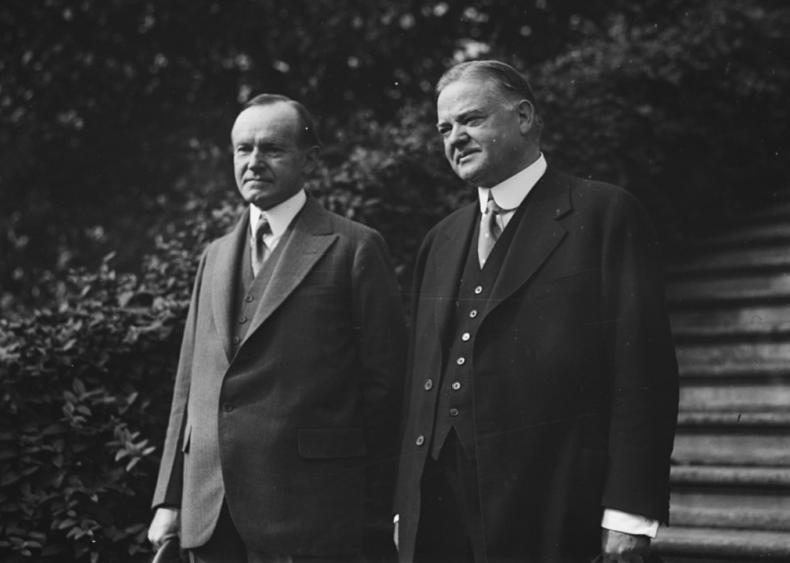 1928: Calvin Coolidge and Herbert Hoover