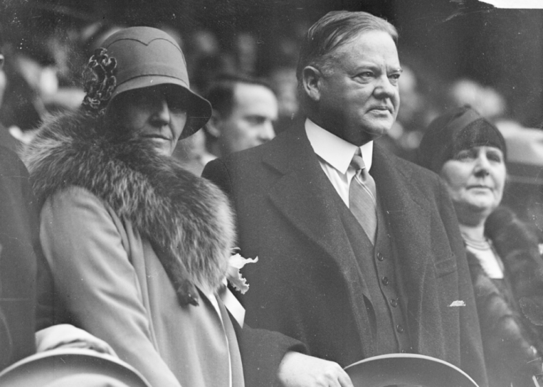 1929: President and Mrs. Hoover at World Series