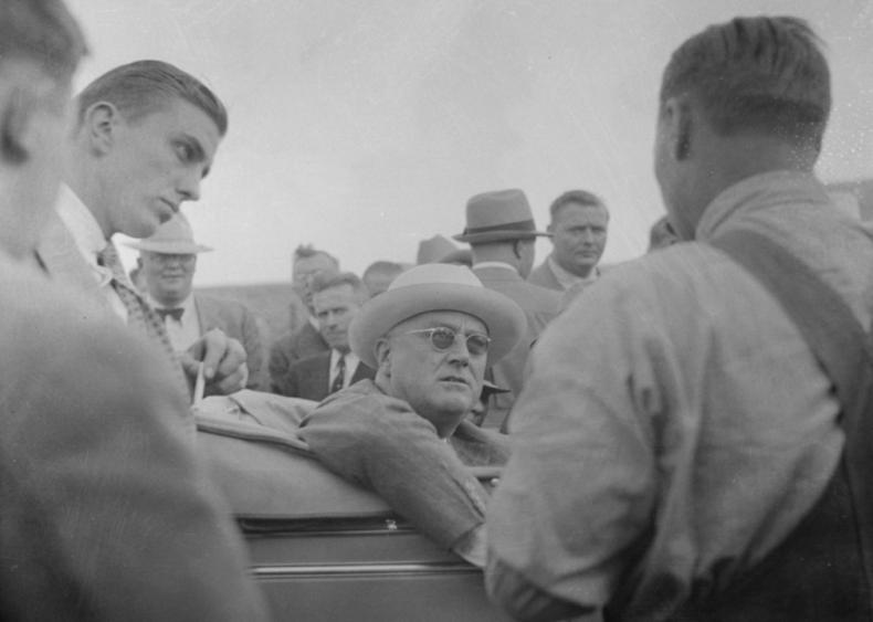 1936: Roosevelt visits North Dakota