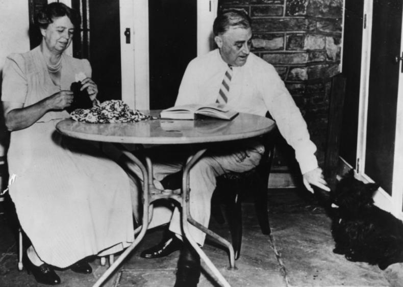 1940: Eleanor, Franklin, and Fala