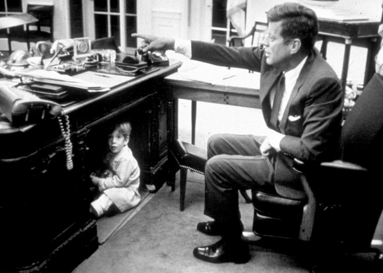 1963: John Kennedy Jr. plays in the Oval Office