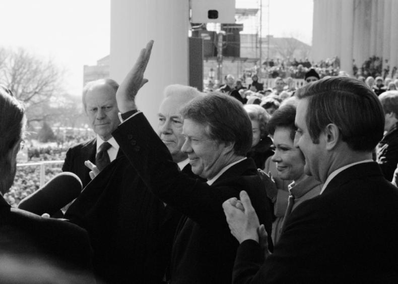1977: President Jimmy Carter gets sworn in
