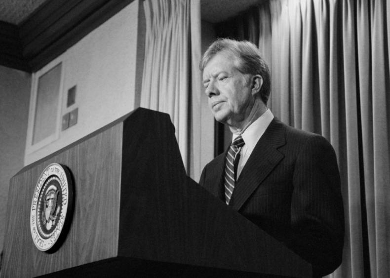 1980: President Carter announces new sanctions against Iran