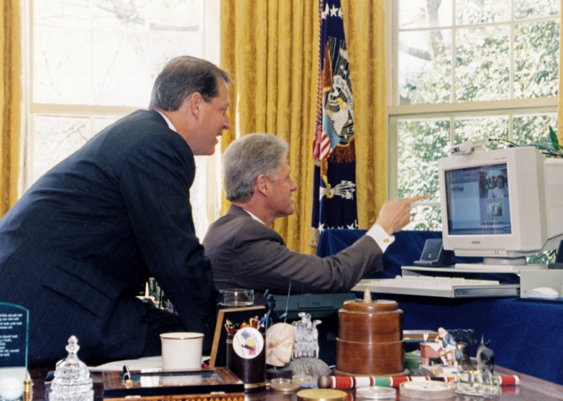 1997: Clinton and Gore on NetDay