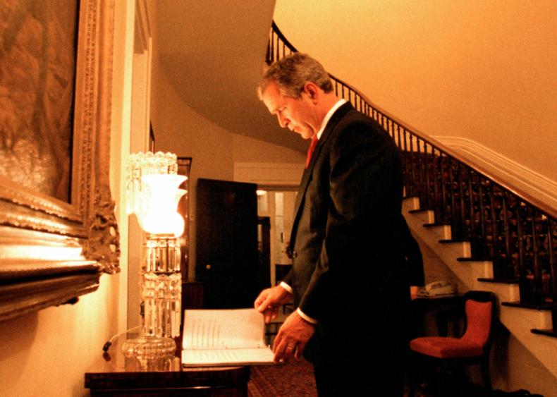 2000: George W. Bush on election night 2000