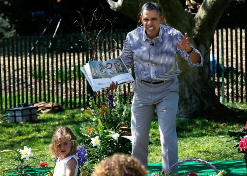 2014: President snd Mrs. Obama host annual White House Easter Egg Roll