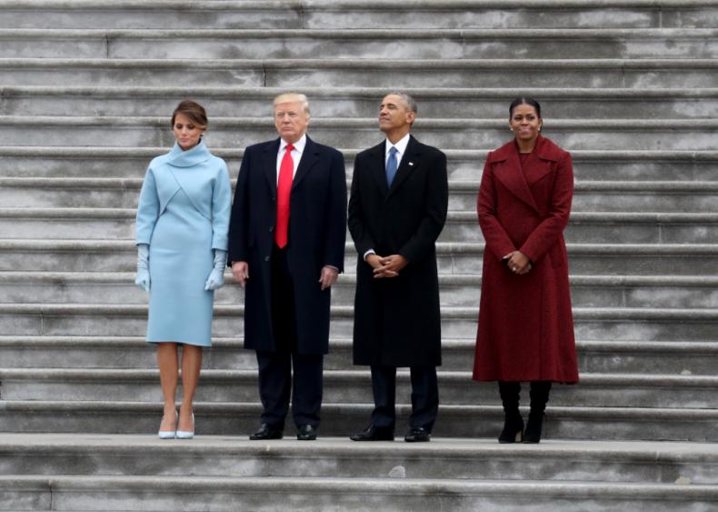 2017: Donald Trump is sworn in