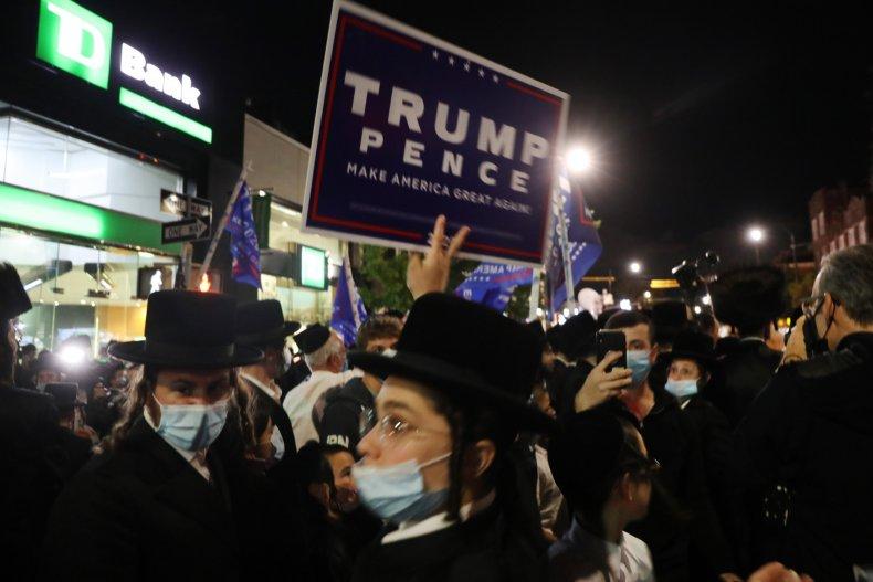 Orthodox Jewish NYC COVID Protest