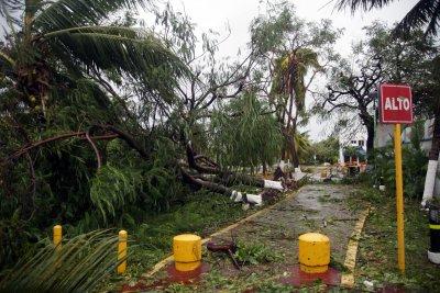 Hurricane Delta Main Avenue Destroyed Cancun