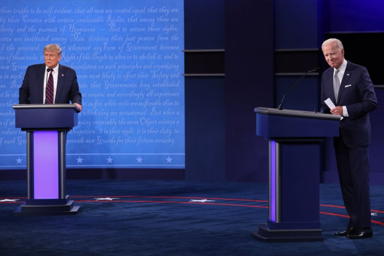 Trump and Biden at the First Debate