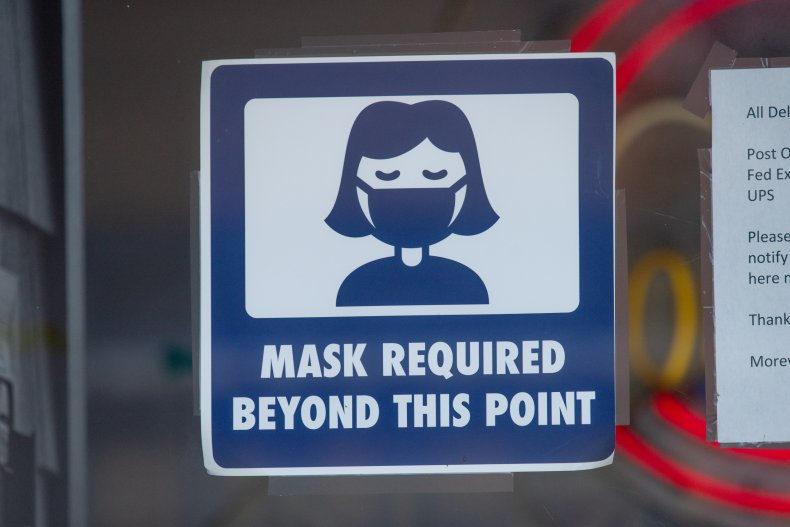 mask mandate sign New Jersey September 2020