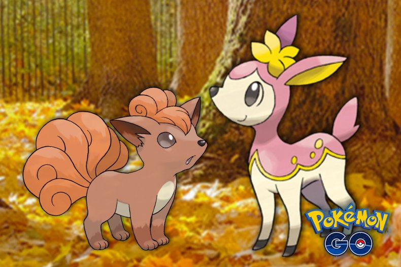 pokemon go autumn event vulpix deerling