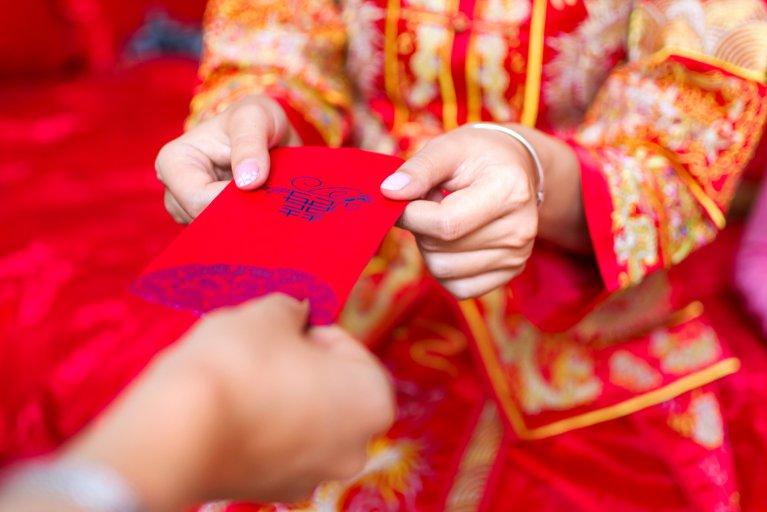 Chine wedding red packet money