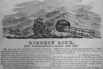1844 Chicago newspaper ad Underground Railroad