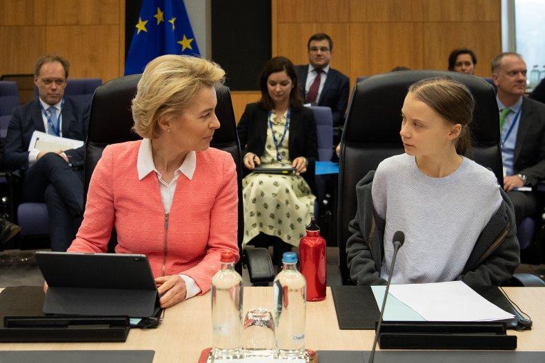 Greta Thunberg European Commission President vonder Leyen