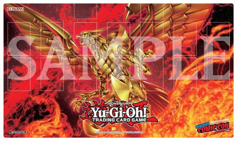 yugioh winged dragon ra playmat nycc 2020