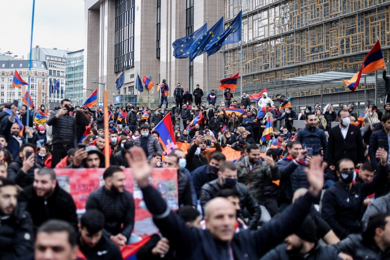 armenia, diaspora, protest, brussels, belgium
