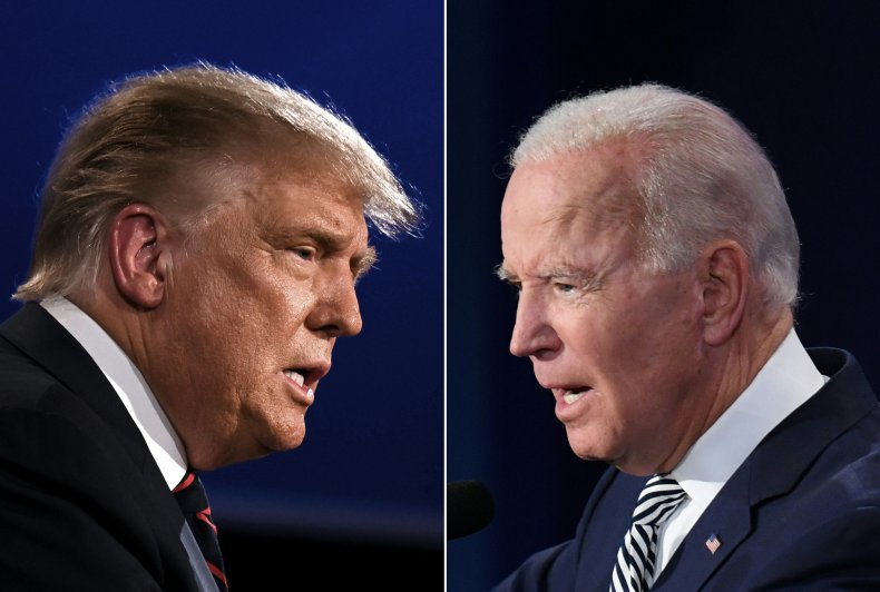 Trump and Biden at Debate