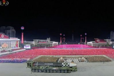 icbm north korea missile parade