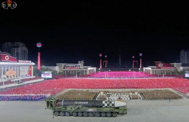 icbm north korea missile parade