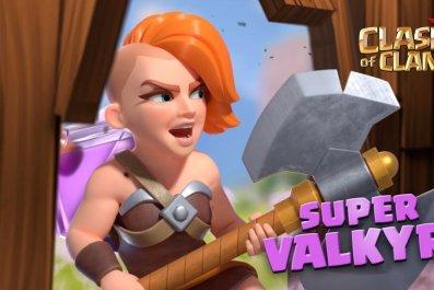 clash of clans super valkyrie sneak peek