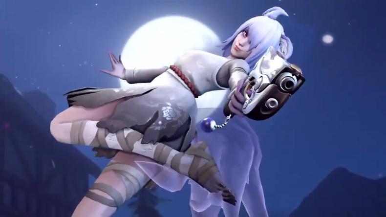 overwatch halloween terror 2020 ghost dva skin