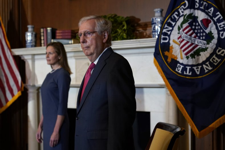 Mitch McConnell and Amy Coney Barrett