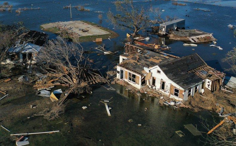 Hurricane Delta damage flooding October 2020